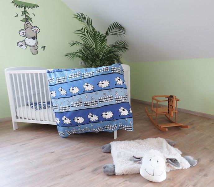 beties sch fchen z hlen kinder bettw sche 100x135 cm biber 100 baumwolle blau 4016728009269. Black Bedroom Furniture Sets. Home Design Ideas
