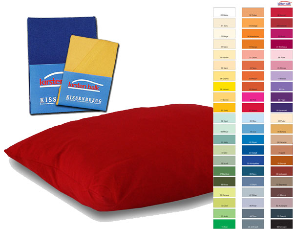 Kissenbezug 40x60in 69 Farben Jersey Kirsten Balk