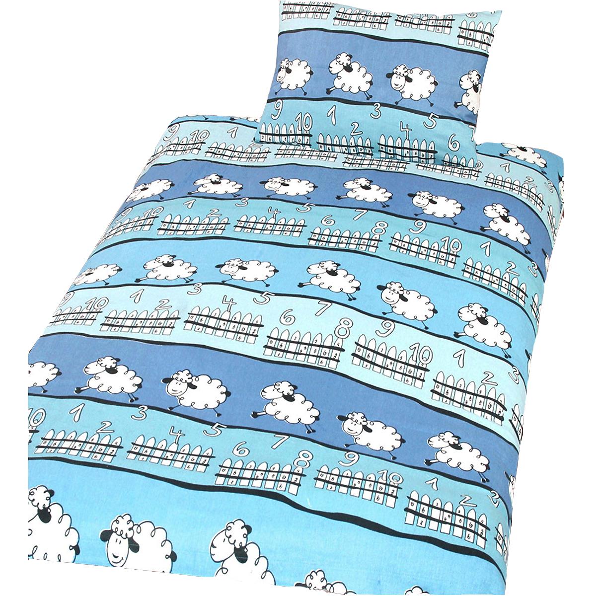 beties sch fchen z hlen kinder bettw sche 100x135 cm biber 100 baumwolle blau ebay. Black Bedroom Furniture Sets. Home Design Ideas