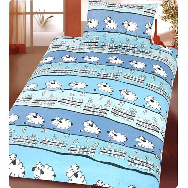 beties sch fchen z hlen kinder bettw sche 135x200 cm biber 100 baumwolle blau ebay. Black Bedroom Furniture Sets. Home Design Ideas