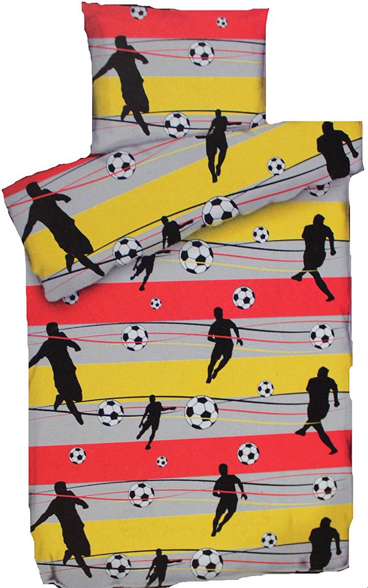 Soccer Fussball Bettwasche Ca 135x200 Cm Schwarz Rot Gold
